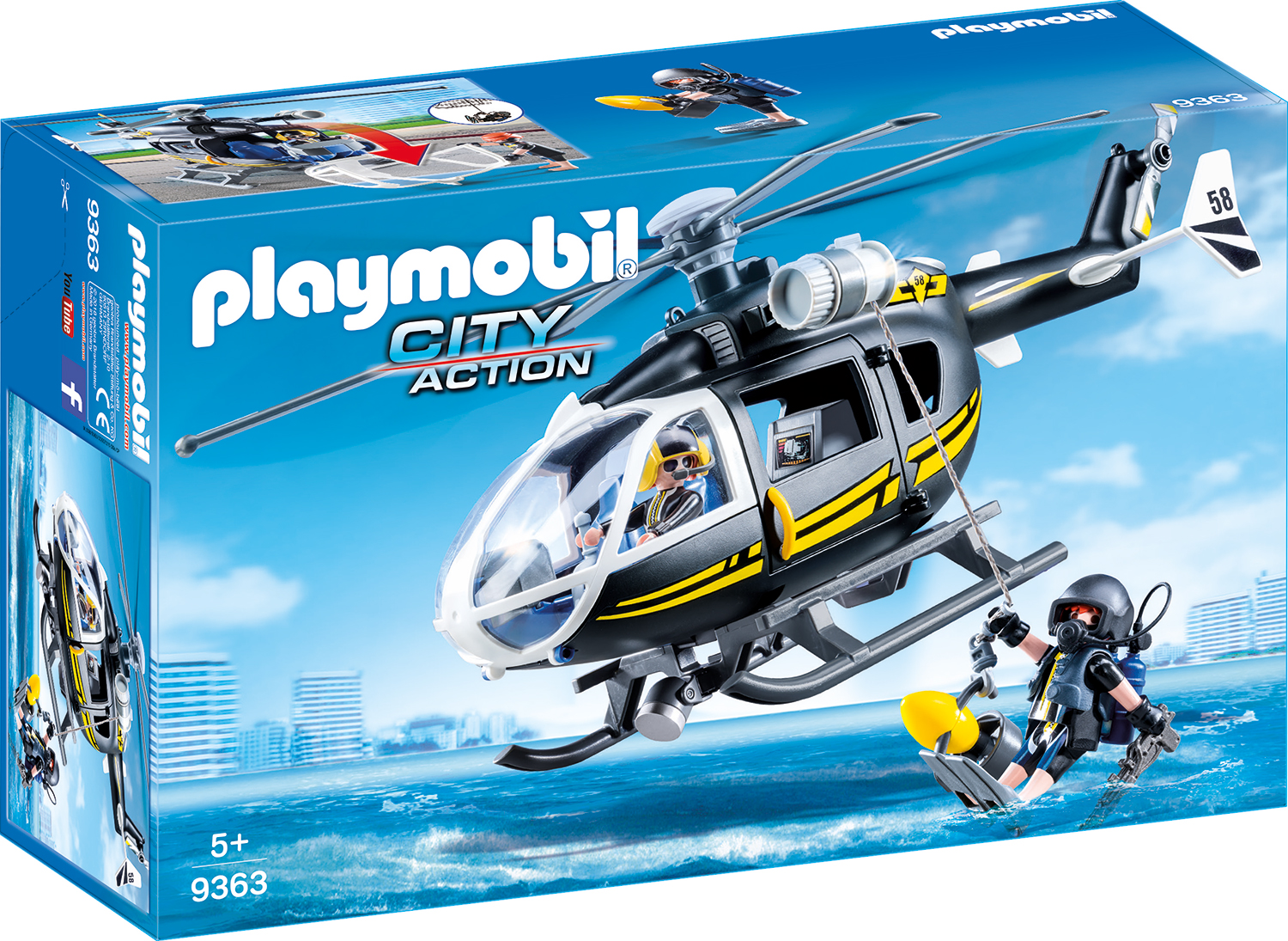 Elicopterul echipei swat playmobil city action