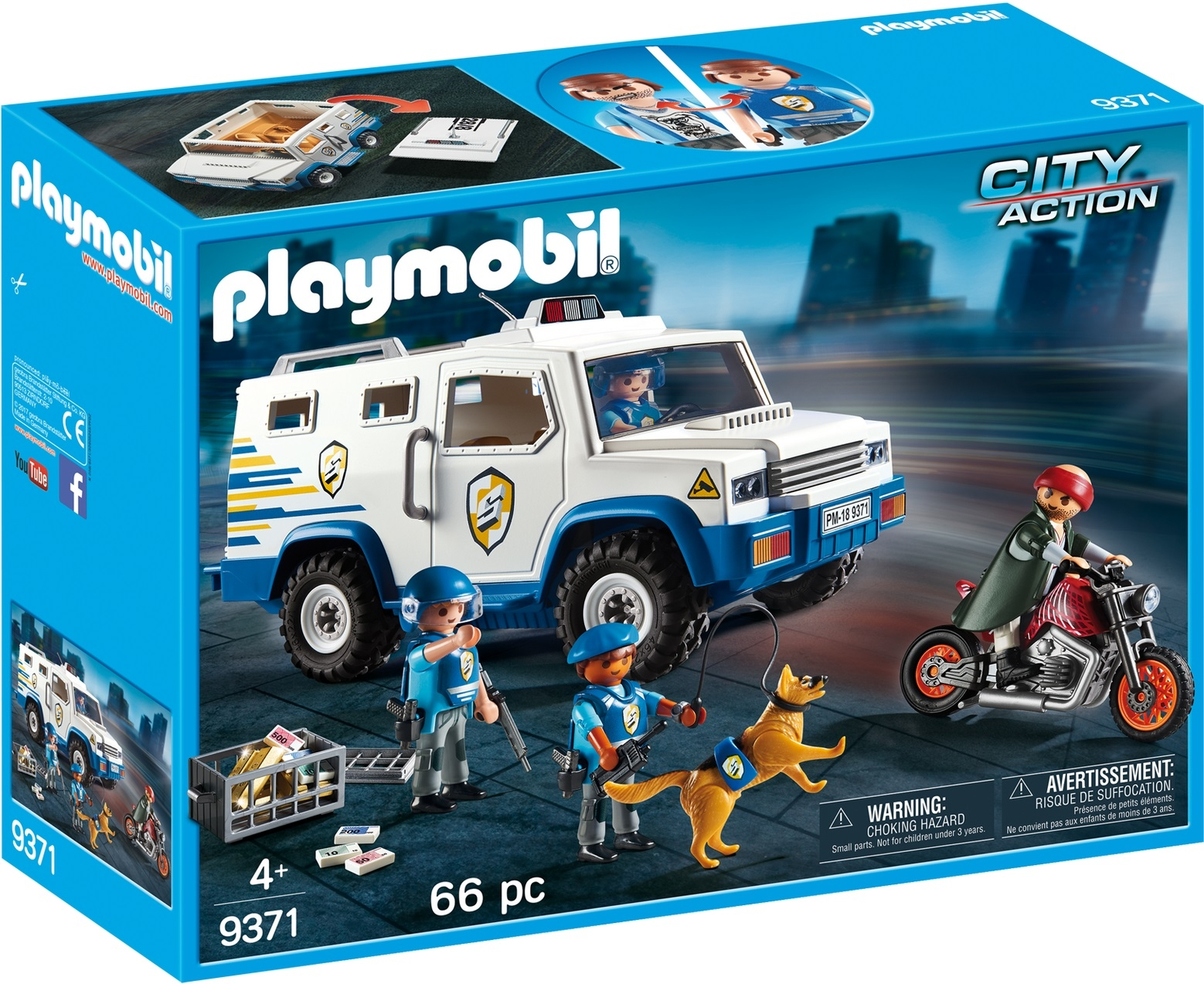 Masina de politie blindata playmobil city action