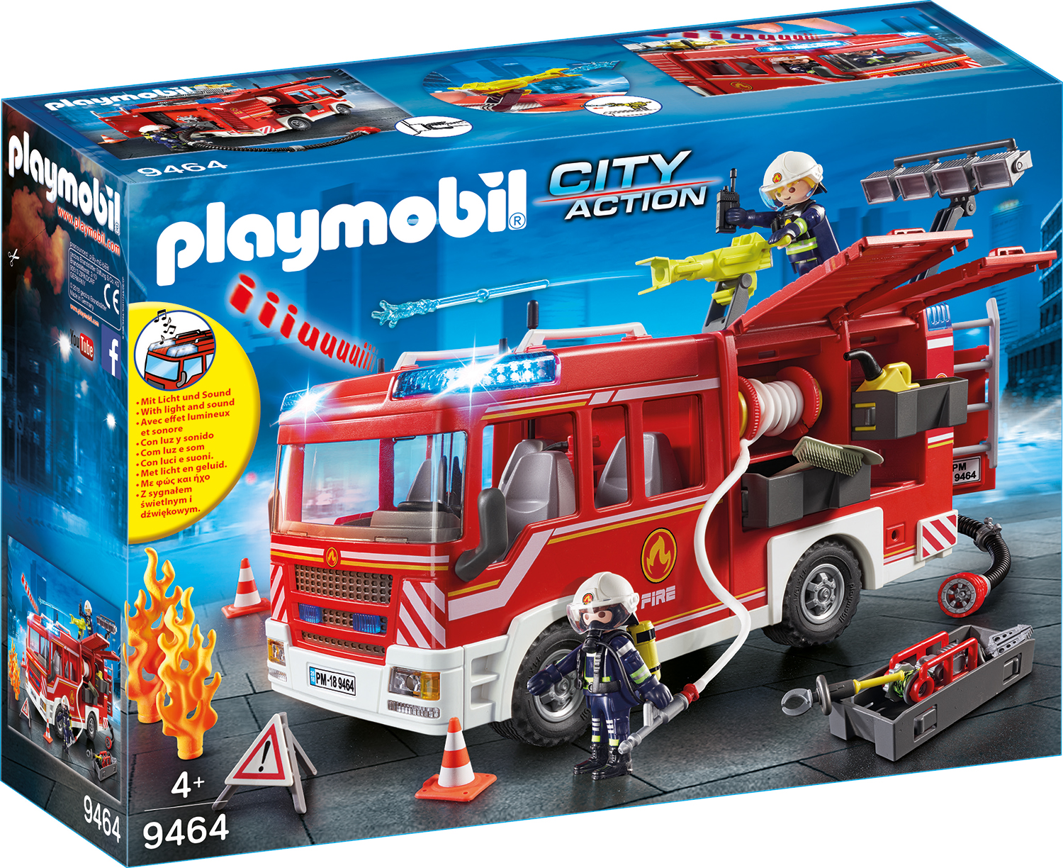 Masina de pompieri playmobil city action