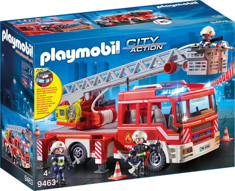 Masina de pompieri cu scara playmobil city action