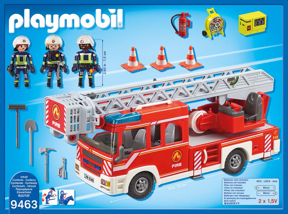 Masina de pompieri cu scara playmobil city action - 1