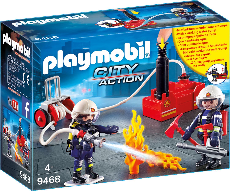 Pompieri cu pompa de apa playmobil city action