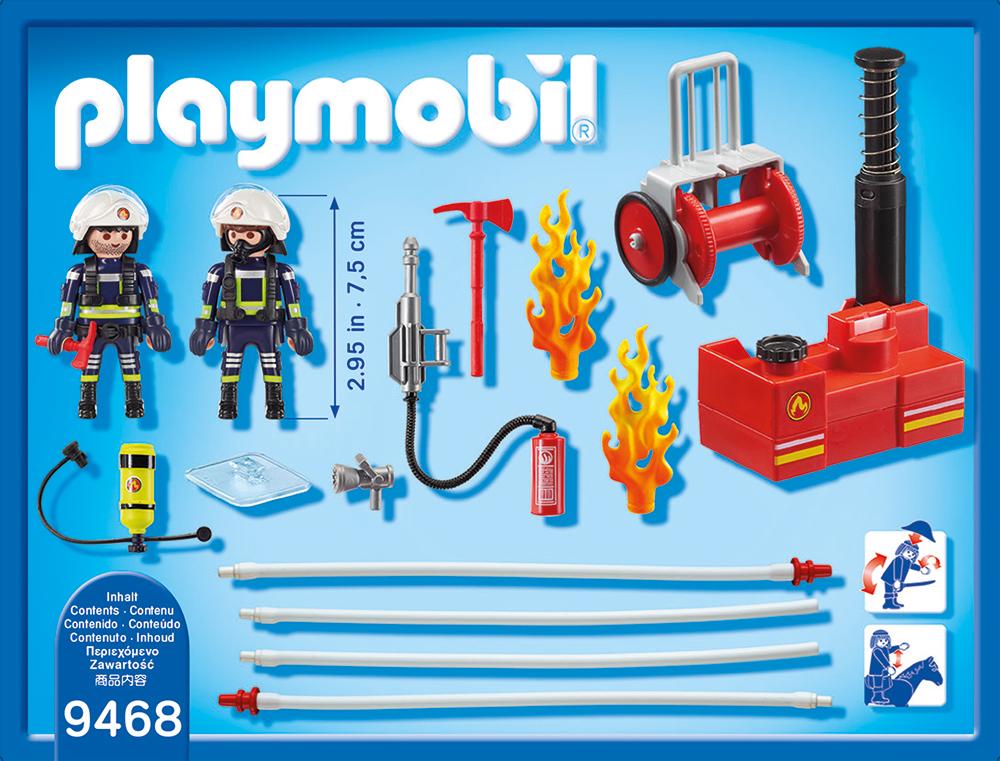 Pompieri cu pompa de apa playmobil city action - 1