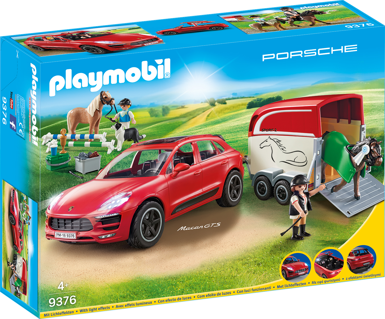 Masinuta porsche playmobil city action