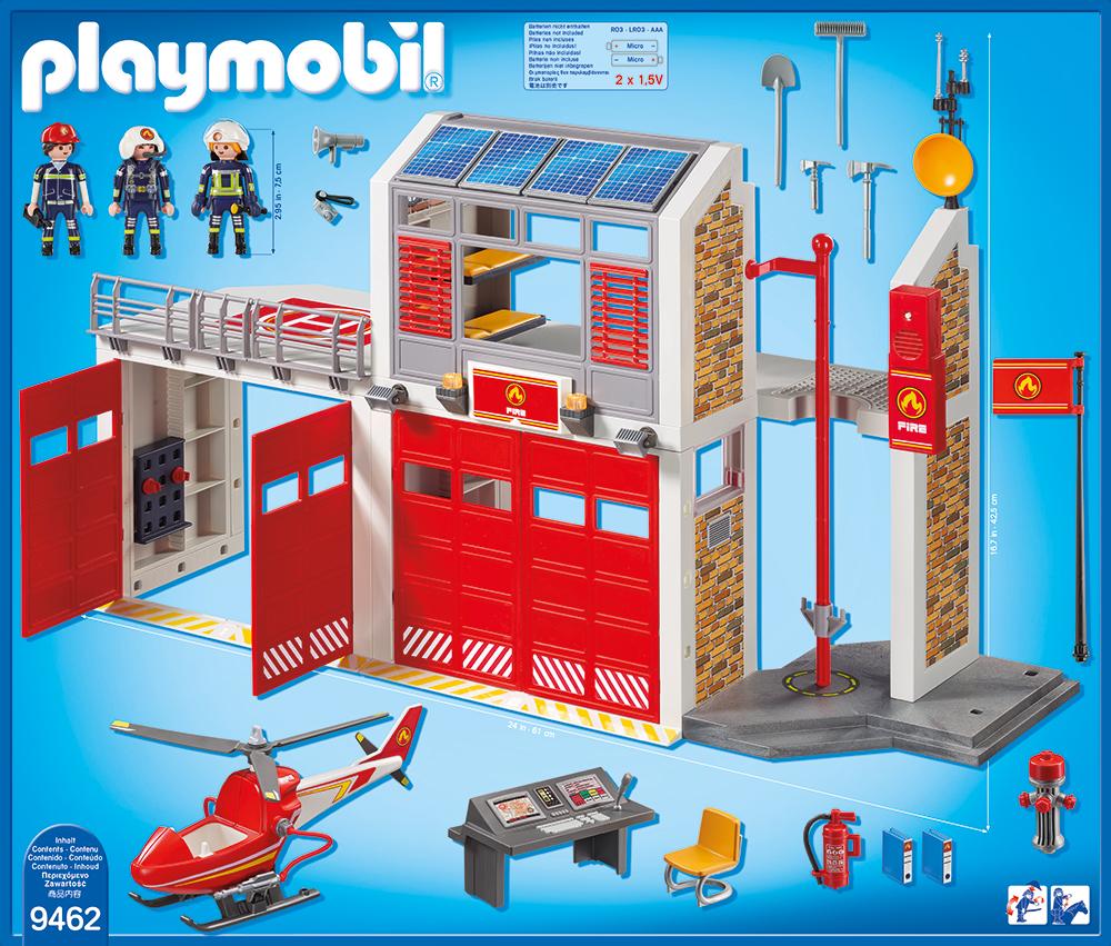 Statie de pompieri playmobil city action - 1