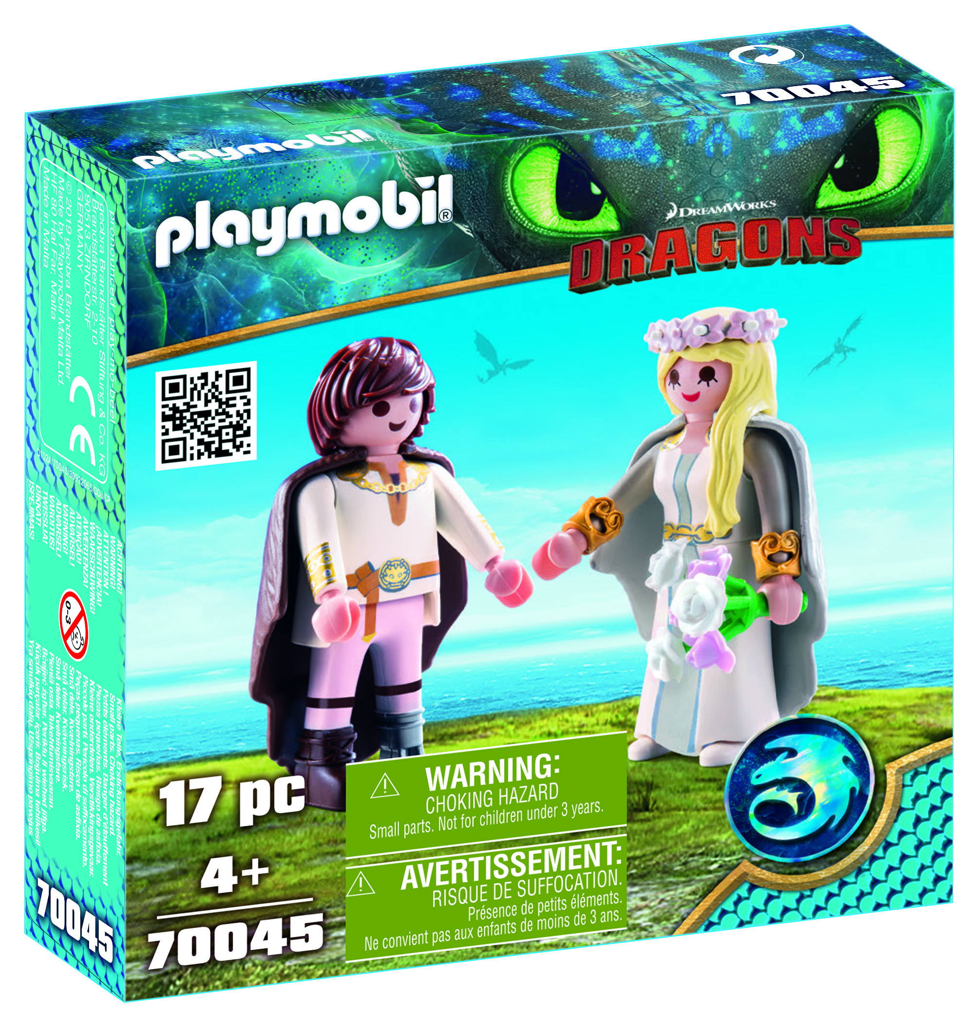 Cuplul hiccup si astrid playmobil dragons