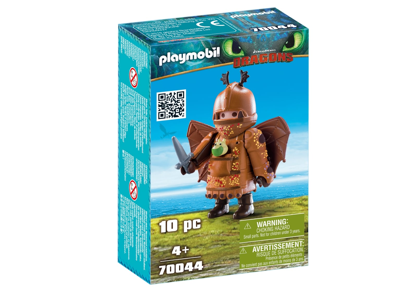 Fishleg in costum de zbor playmobil dragons