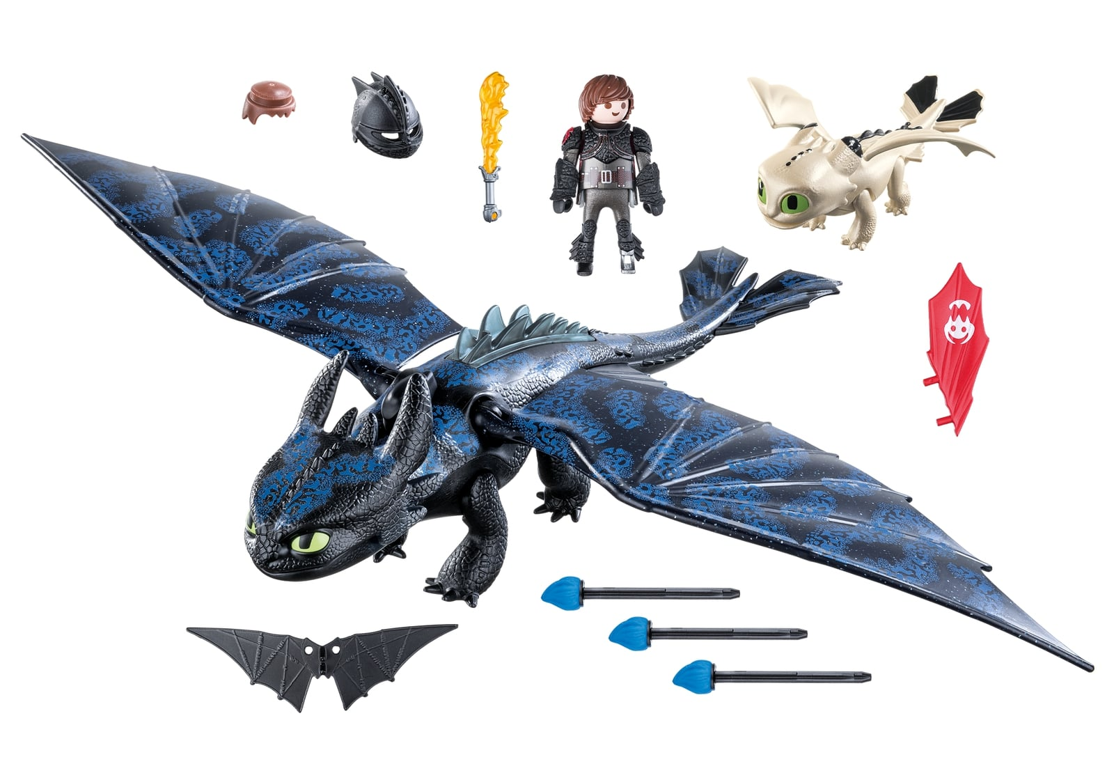 Hiccup, toothless si pui de dragon playmobil dragons - 2