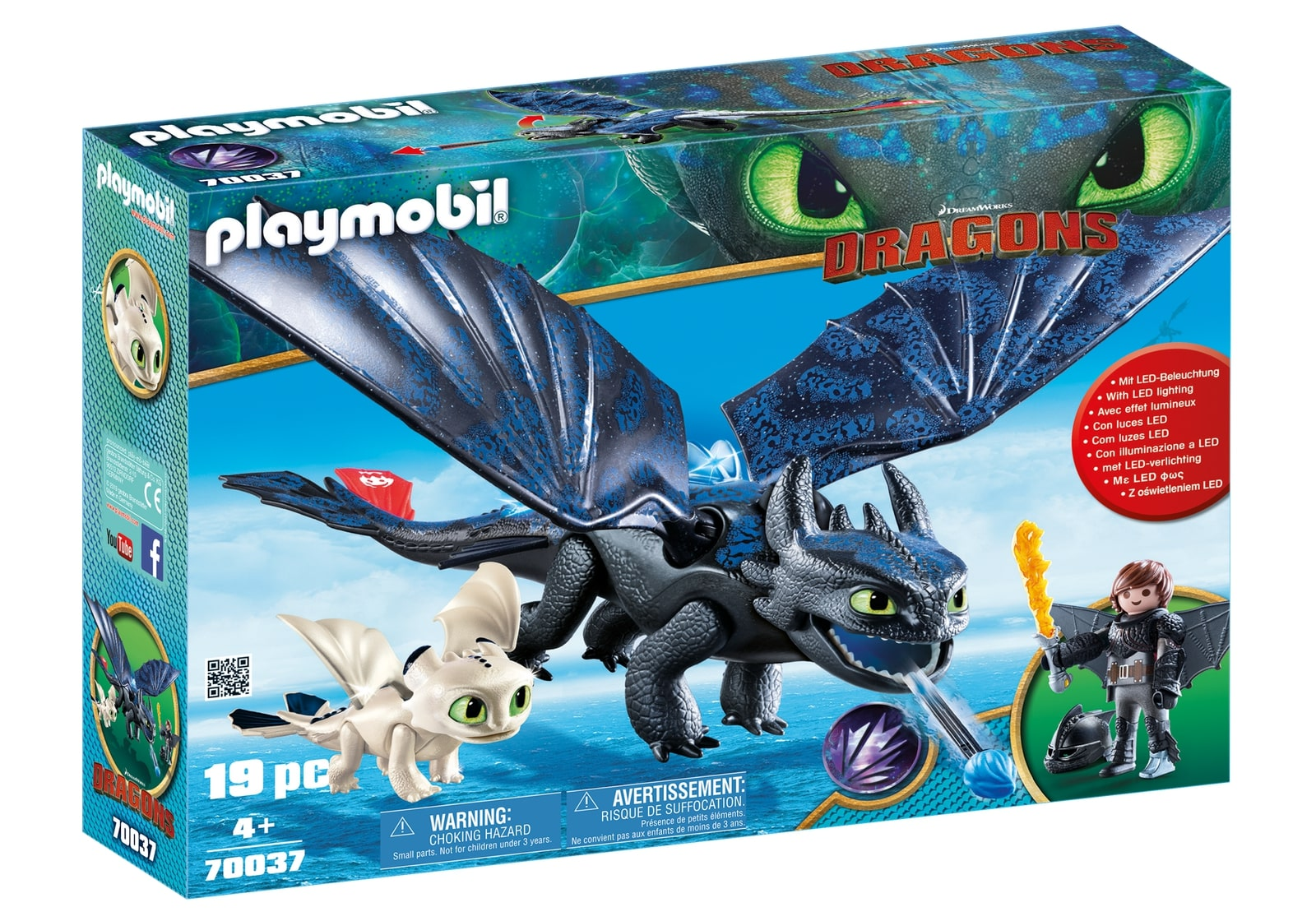 Hiccup, toothless si pui de dragon playmobil dragons