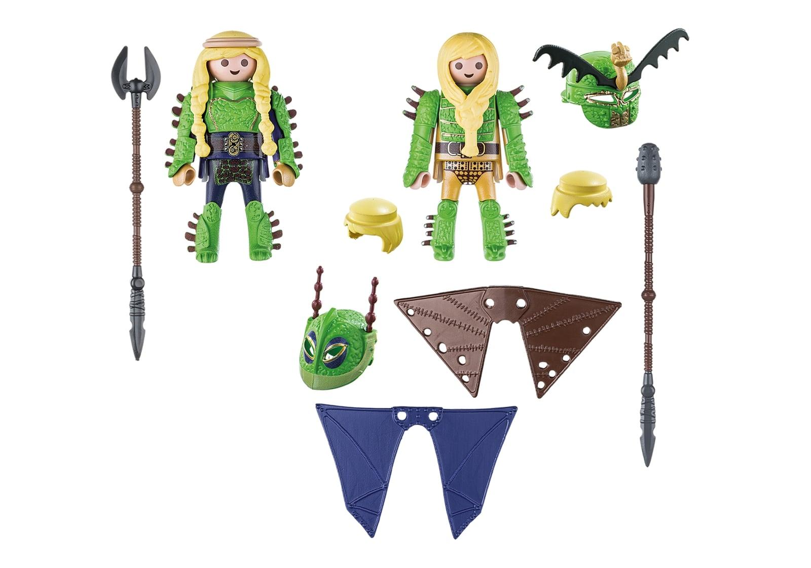 Raffnut si taffnut in costume de zbor playmobil dragons - 2