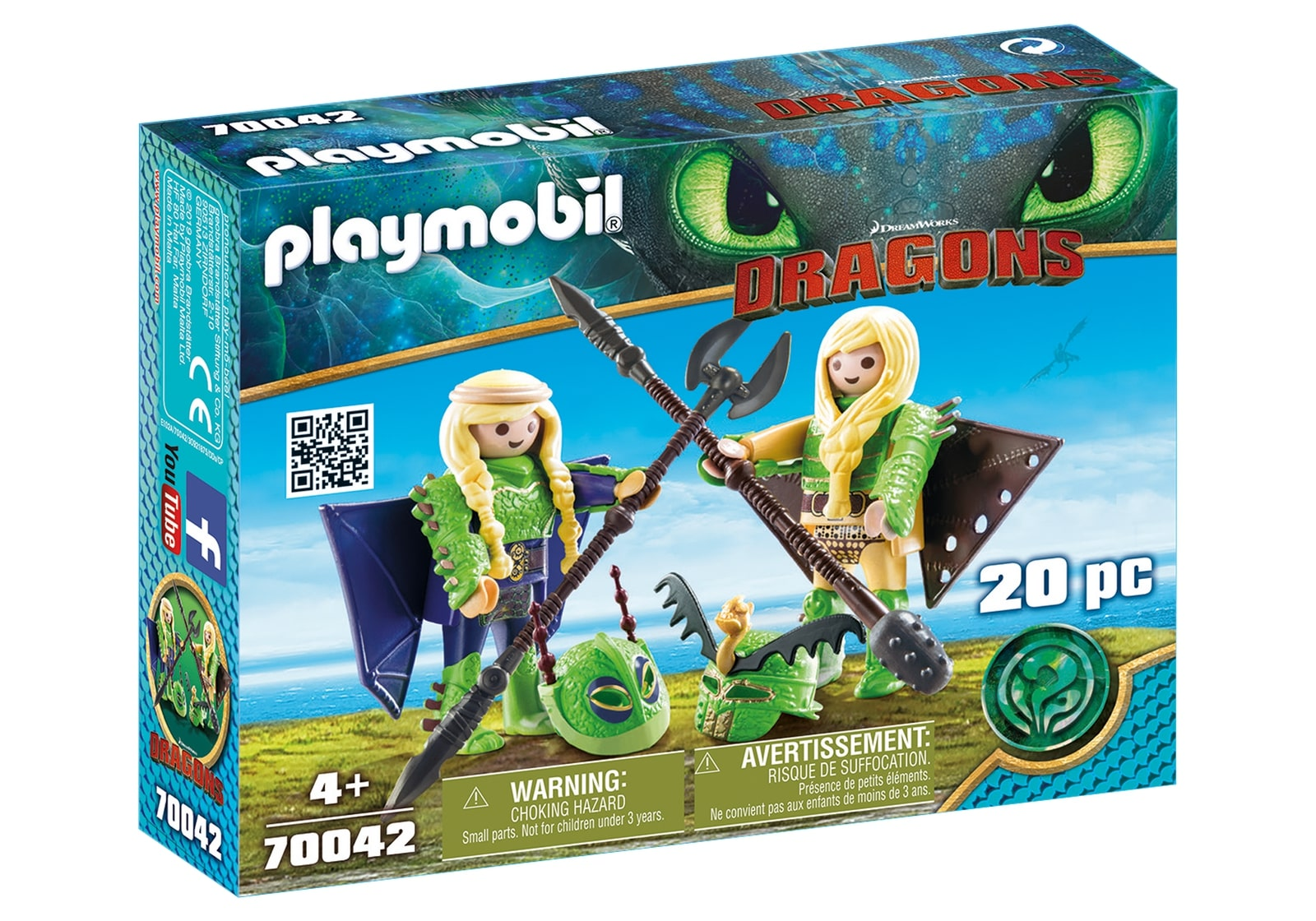 Raffnut si taffnut in costume de zbor playmobil dragons