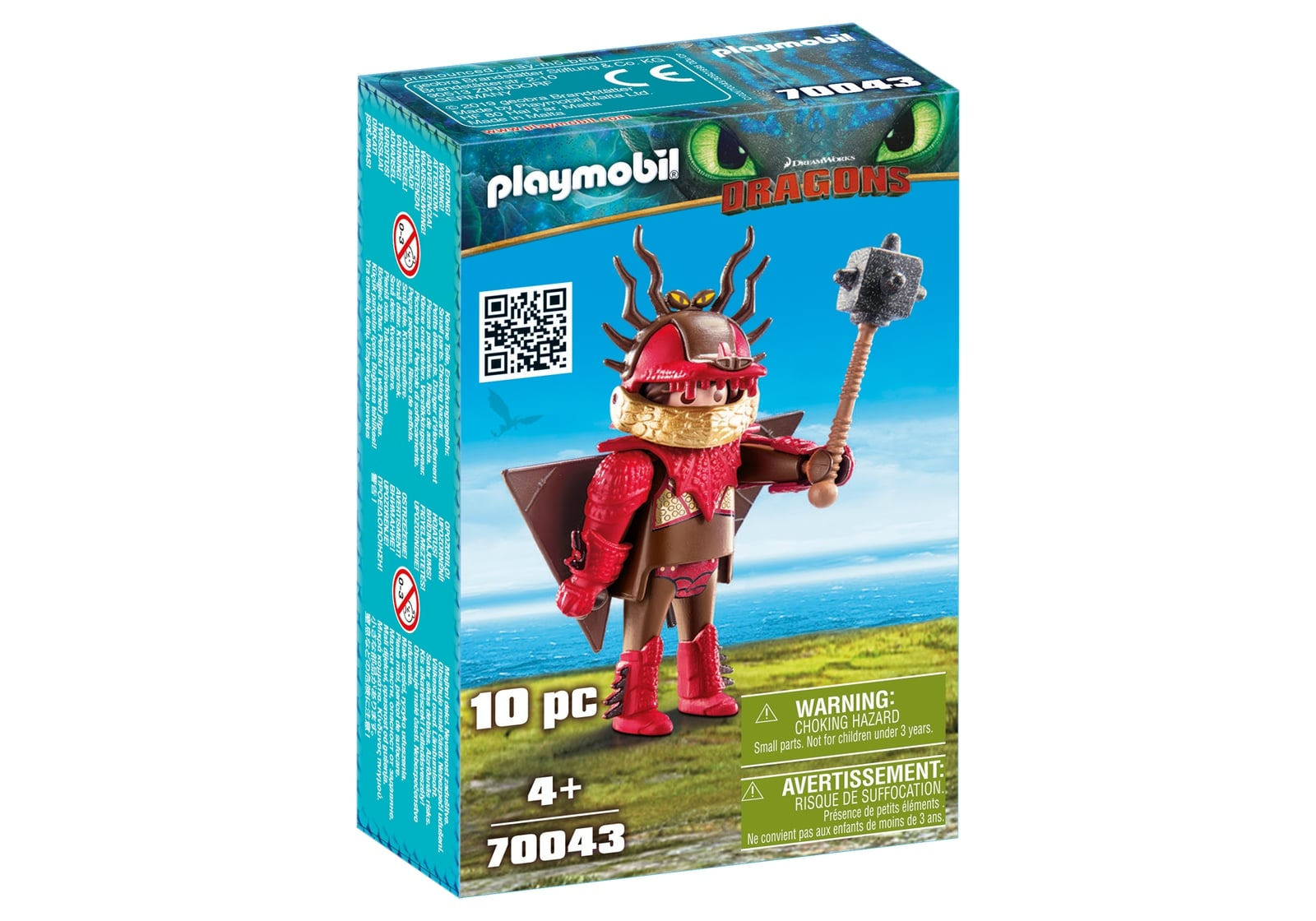 Snotlout in costum de zbor playmobil dragons