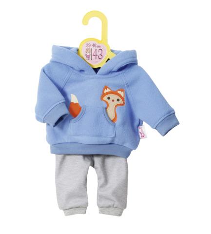 Set bluza bleu si pantaloni 43 cm dolly moda zapf imagine