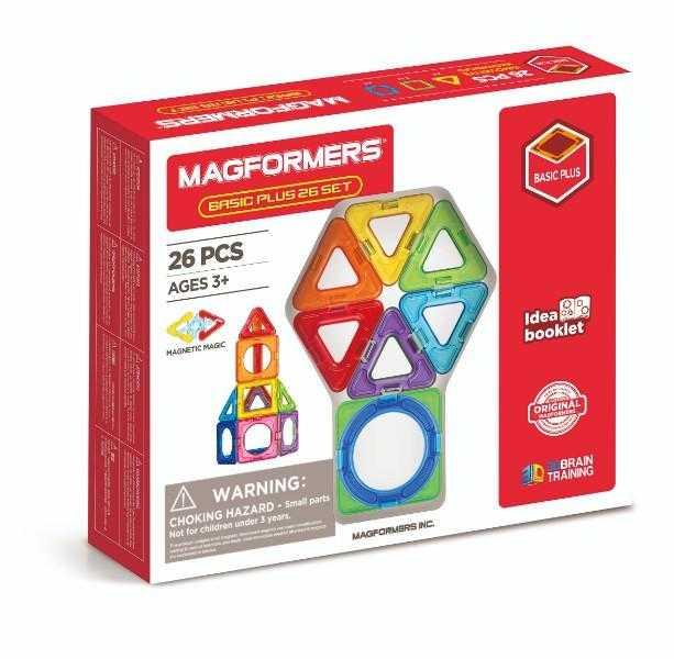 Set constructie magnetic magformers basic plus 26 piese clics toy imagine