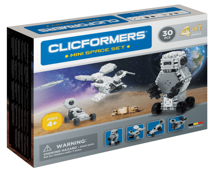 Set constructie clicformers mini spatiu 30 piese clics toys imagine