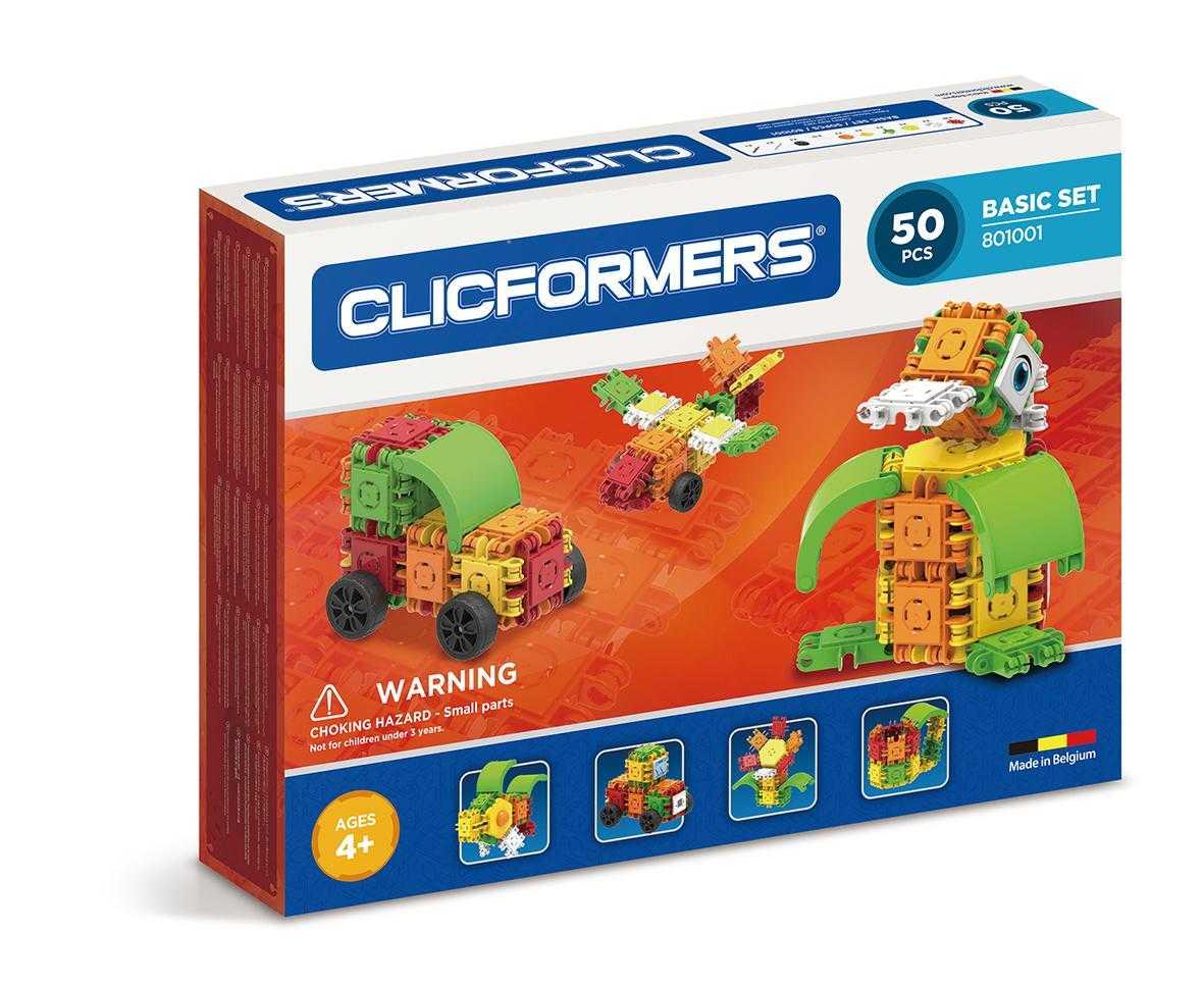 Set constructie clicformers basic 50 piese clics toys imagine