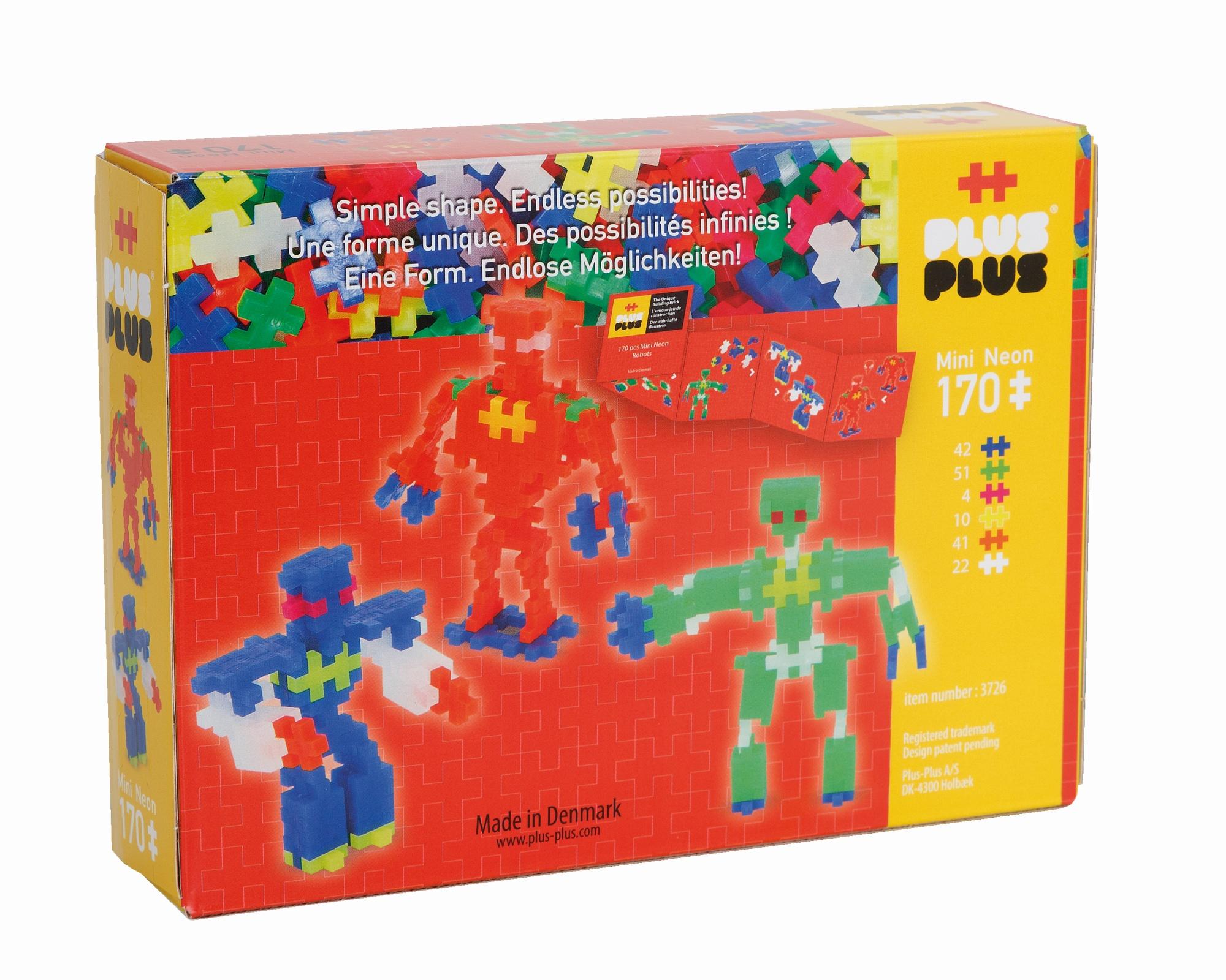 Set constructie neon roboti 170 piese plus plus imagine
