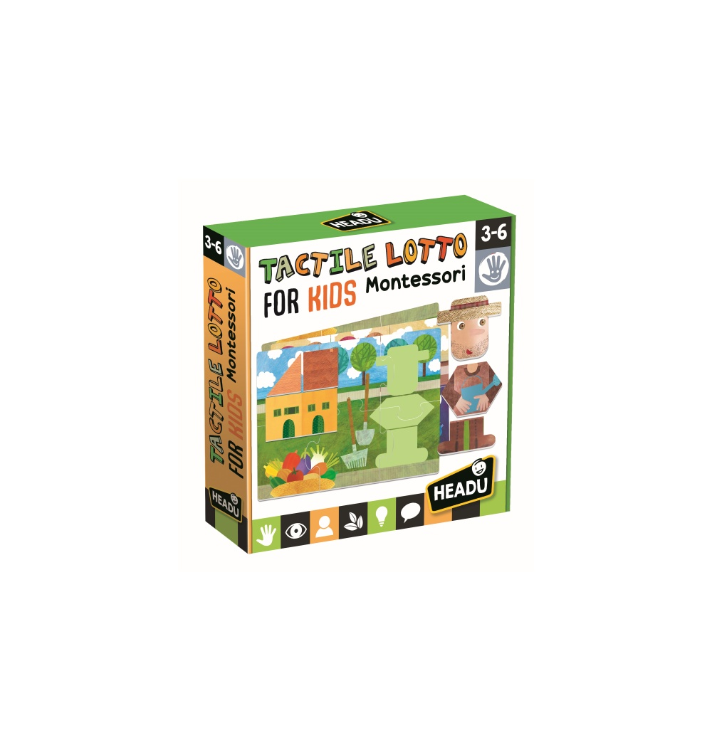Joc montessori lotto tactile headu