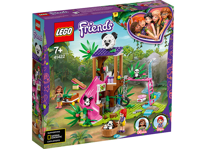 Casuta ursilor panda lego friends