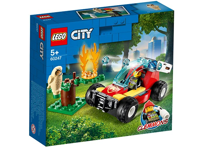 Incendiu in padure lego city
