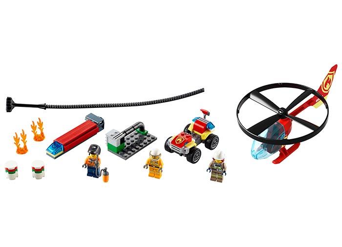 Interventie cu elicopterul de pompieri lego city - 1