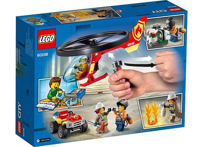 Interventie cu elicopterul de pompieri lego city - 2