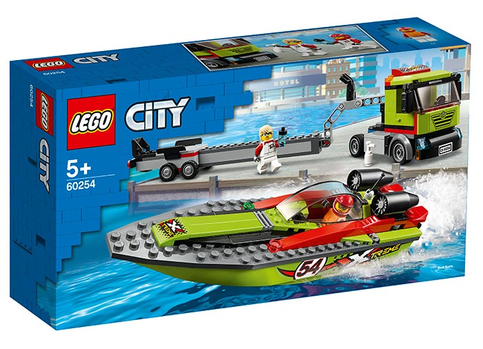 Transportor de barca de curse lego city