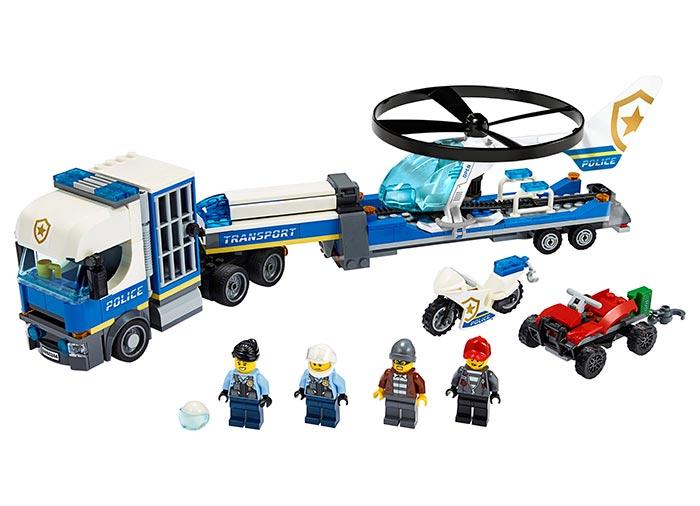 Transportul elicopterului de politie lego city - 1