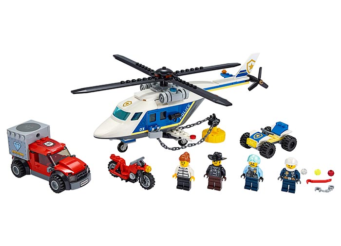 Urmarire cu elicopterul politiei lego city - 1