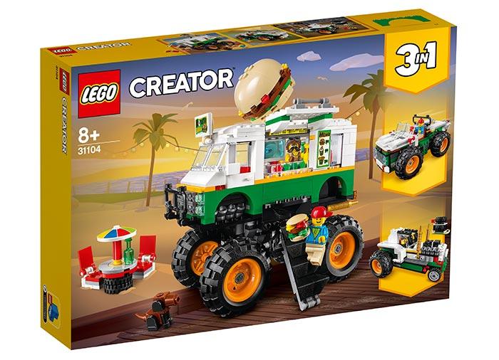 Camion gigant cu burger lego creator