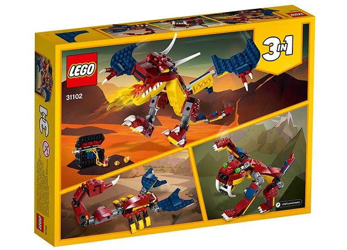 Dragon de foc lego creator - 2