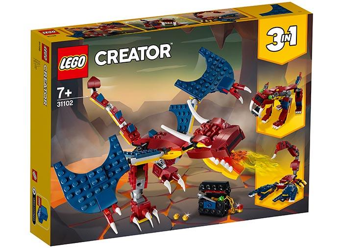 Dragon de foc lego creator