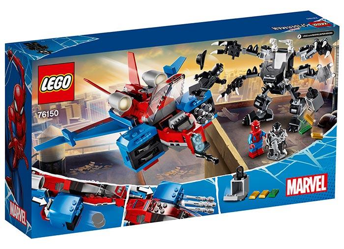 Spiderjet si robotul venom lego marvel super heroes - 1