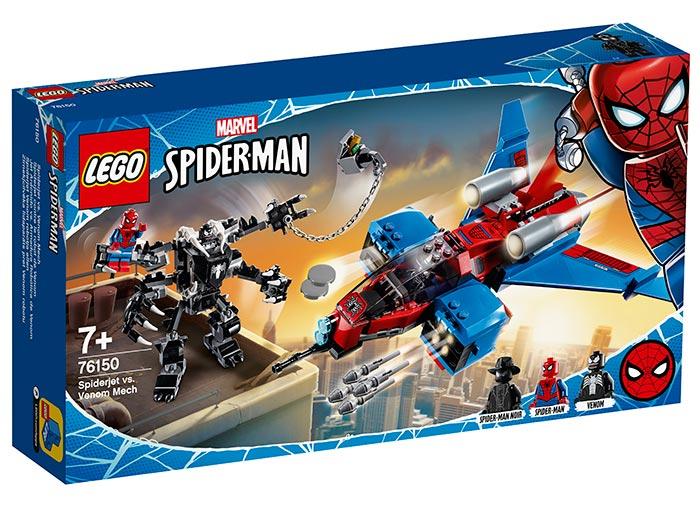 Spiderjet si robotul venom lego marvel super heroes