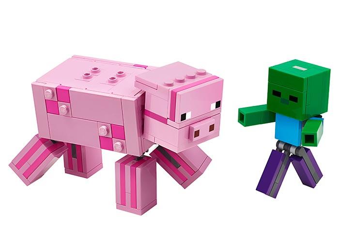 Porc cu bebelus zombi lego minecraft - 1