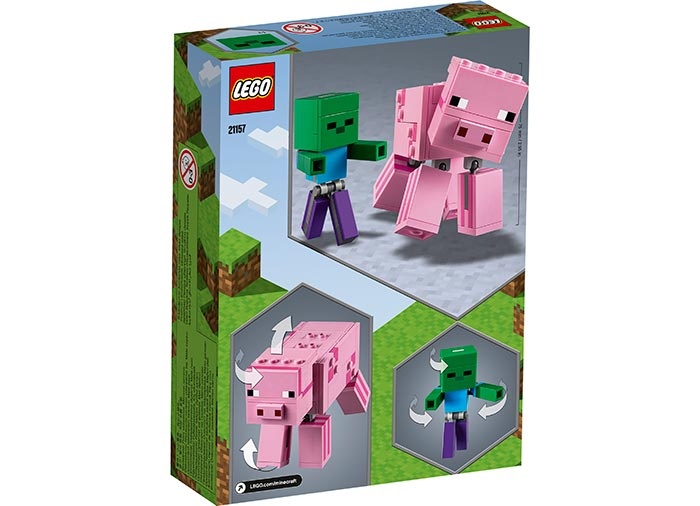 Porc cu bebelus zombi lego minecraft - 2