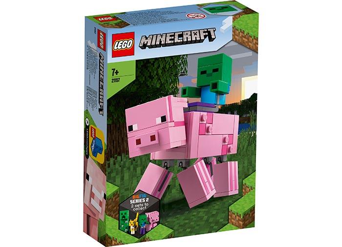 Porc cu bebelus zombi lego minecraft