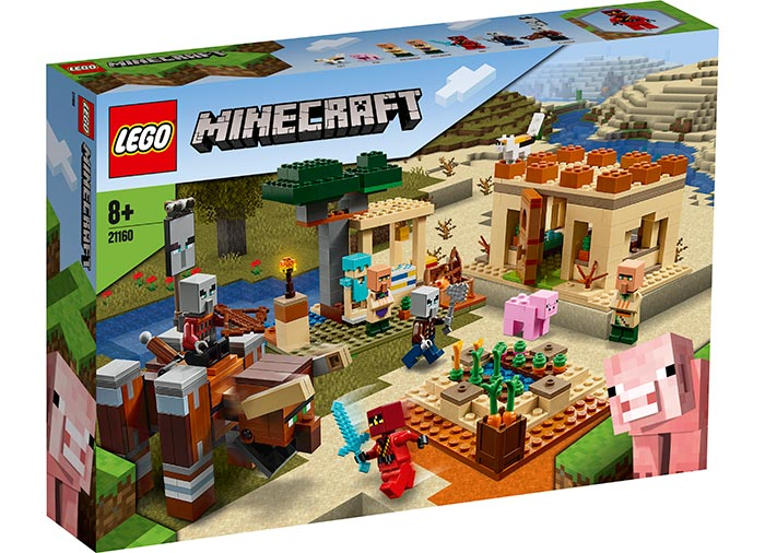 Raidul illager lego minecraft