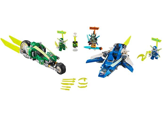 Masinile de curse ale lui jay si lloyd lego ninjago - 1