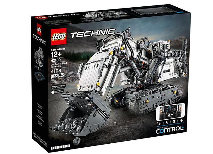 Excavator liebherr r 9800 lego technic