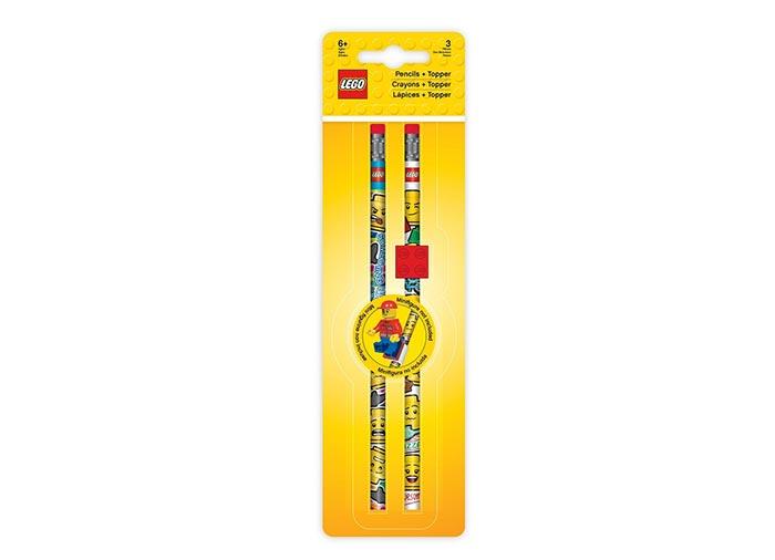 Set 2 creioane lego grafit cu topper imagine