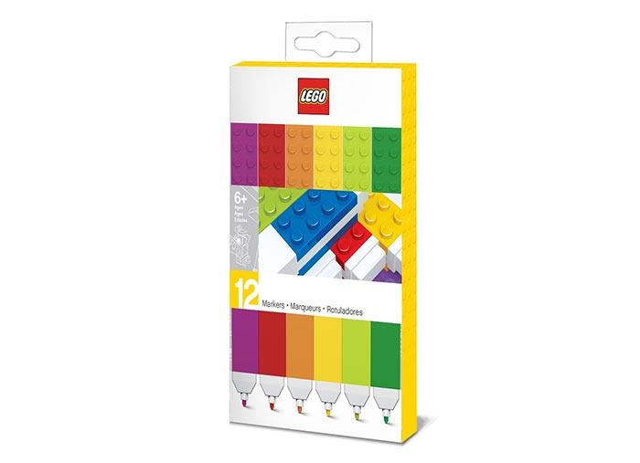 Set 12 markere lego colorate imagine