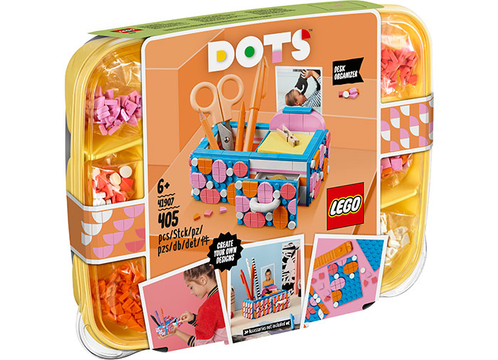 Organizator de birou lego dots