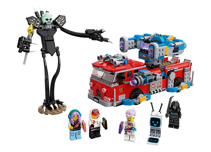 Camionul de pompieri phantom lego hidden side - 1