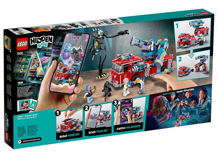 Camionul de pompieri phantom lego hidden side - 2