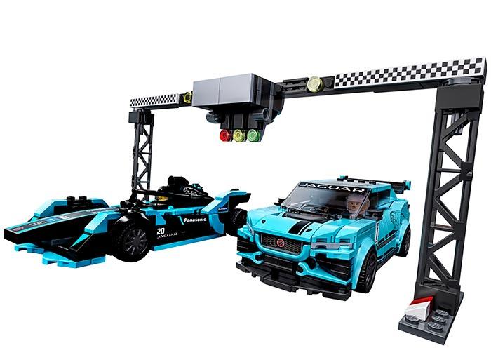 Jaguar racing gen2 & jaguar i-pace etrophy lego speed champio - 1