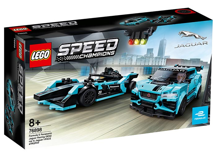 Jaguar racing gen2 & jaguar i-pace etrophy lego speed champio