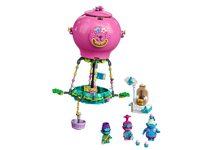 Poppy cu balonul cu aer cald lego trolls - 1