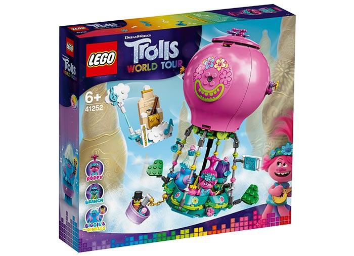 Poppy cu balonul cu aer cald lego trolls