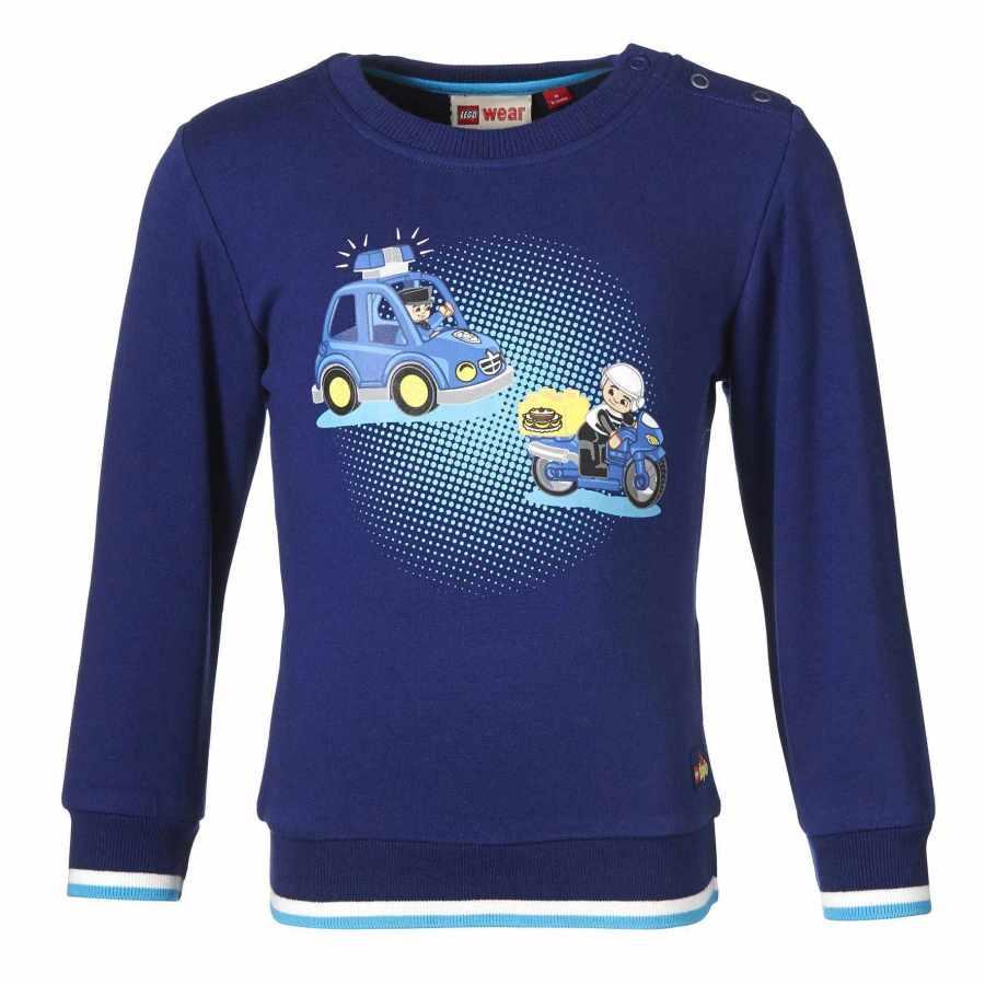 Bluza lego duplo cu masinute albastra 74 imagine